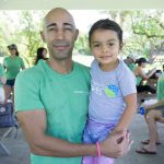 Coastal Cleanup Miami - Father & Daughter